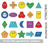 learn geometric shapes. ring ... | Shutterstock .eps vector #570827845