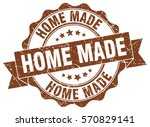 home made. stamp. sticker. seal.... | Shutterstock .eps vector #570829141
