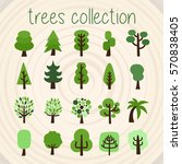 trees selection | Shutterstock .eps vector #570838405