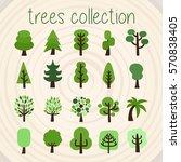 trees selection | Shutterstock .eps vector #570838405
