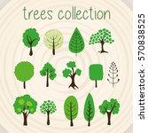 trees selection | Shutterstock .eps vector #570838525