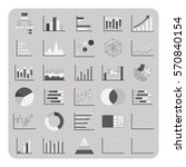 vector of flat icons  basic... | Shutterstock .eps vector #570840154