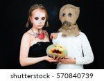 Boy And Girl With Halloween...