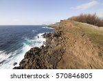 landscape in the south of... | Shutterstock . vector #570846805