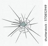 broken glass effect. hole in...   Shutterstock .eps vector #570852949