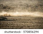 dirt fly after motocross... | Shutterstock . vector #570856294
