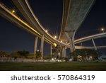 river bridge in thailand ... | Shutterstock . vector #570864319