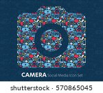 flat camera icons technology ... | Shutterstock .eps vector #570865045