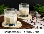 homemade coffee liquor with ice ... | Shutterstock . vector #570872785
