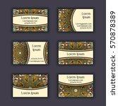 vector business card design... | Shutterstock .eps vector #570878389