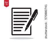 notepad symbol. simple flat... | Shutterstock .eps vector #570880741