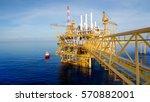 offshore construction platform... | Shutterstock . vector #570882001