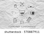 concept of configuring the... | Shutterstock . vector #570887911