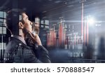 he is thinking ahead . mixed... | Shutterstock . vector #570888547