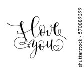hand drawn card valentine's day....   Shutterstock .eps vector #570889399