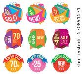 banners and stickers containing ... | Shutterstock .eps vector #570891571