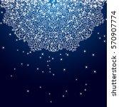 blue christmas snowflake...   Shutterstock .eps vector #570907774