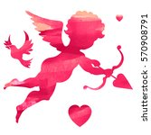 happy valentines day  vector... | Shutterstock .eps vector #570908791
