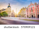 downtown madrid  spain  where... | Shutterstock . vector #570909121