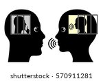 introvert and extrovert....   Shutterstock . vector #570911281