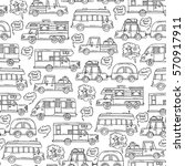 vector seamless pattern with... | Shutterstock .eps vector #570917911