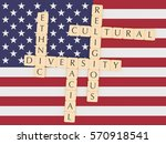 diversity in the usa concept ... | Shutterstock . vector #570918541