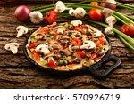 traditional  wild mushroom... | Shutterstock . vector #570926719
