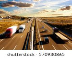 Small photo of logistic and transport. Highway transport.Road safety.International distribution and delivery of commodity