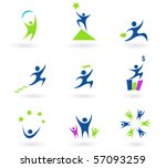 collection of human business ... | Shutterstock .eps vector #57093259