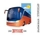 transport travel bus company... | Shutterstock .eps vector #570933169