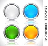 metal web buttons. vector eps10. | Shutterstock .eps vector #57093493