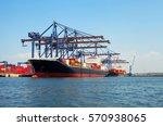 logistics and transportation... | Shutterstock . vector #570938065