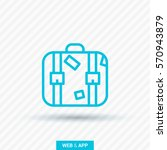 suitcase isolated minimal... | Shutterstock .eps vector #570943879