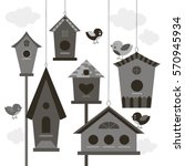 collection of birds and... | Shutterstock .eps vector #570945934