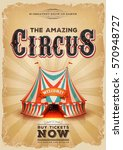 vintage old circus poster with... | Shutterstock .eps vector #570948727