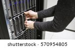 it consultant working with...   Shutterstock . vector #570954805
