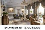 luxurious baroque living room... | Shutterstock . vector #570955201