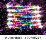 abstract style frozen... | Shutterstock . vector #570955297