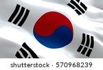 korea flag. waving colorful... | Shutterstock . vector #570968239