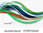 vector geometric flowing lines... | Shutterstock .eps vector #570970369