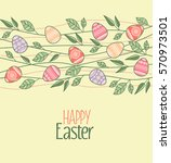 vector easter decoration with... | Shutterstock .eps vector #570973501