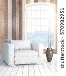 modern bright interior with... | Shutterstock . vector #570982951