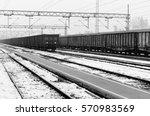 Train Wagons At The Train...