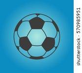 soccer ball icon. soccer ball... | Shutterstock .eps vector #570985951