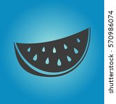 watermelon icon. flat vector...