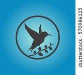 bird icon. bird vector isolated ... | Shutterstock .eps vector #570986125