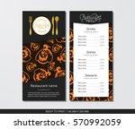 vector template restaurant menu ... | Shutterstock .eps vector #570992059
