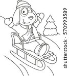 coloring page outline of... | Shutterstock .eps vector #570993589