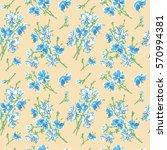 seamless pattern   bouquet  ... | Shutterstock .eps vector #570994381