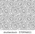 trendy abstract hand drawn... | Shutterstock .eps vector #570996811
